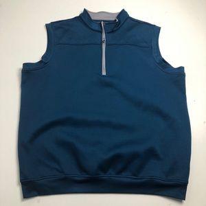 Pebble Beach Golf Vest Fleece Blue Mens XXL
